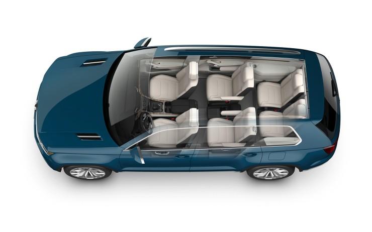 Volkswagen CrossBlue Concept interior view through