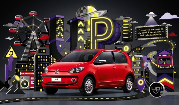 VW UP Dupla Vermelho Black