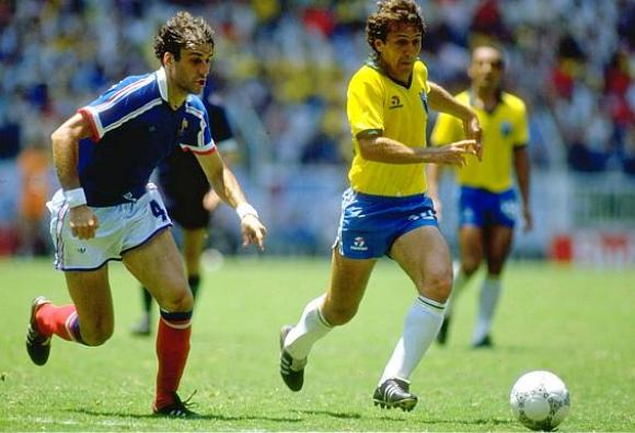 Batiston of France and Zico of Brazil
